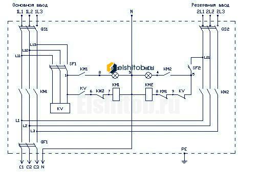 Схема АВР ЩАП-23